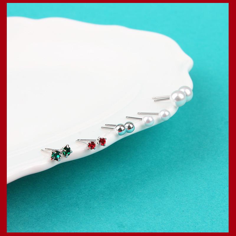 메리 크리스마스 12피스 세트 귀걸이_SET323 - 라이크로렐, 9,000원, 골드, 볼/미니귀걸이